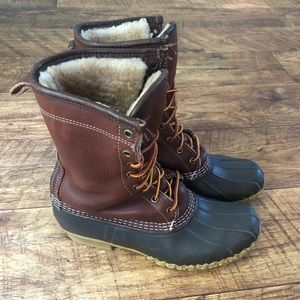 """LL Bean 10"""" Shearling lined Boots - size 9/9.5"""